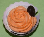 Cupcakes de naranja amarga y chocolatenegro