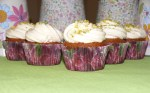 Pistachios and white chocolate Cupcakes