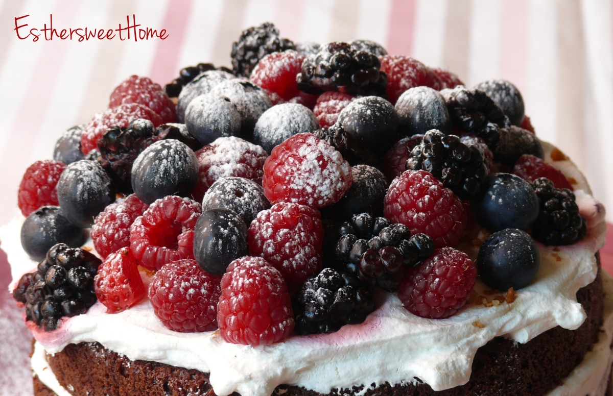 Layer Cake de chocolate y frutos rojos